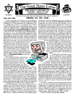 May/July 1999 newsletter in English