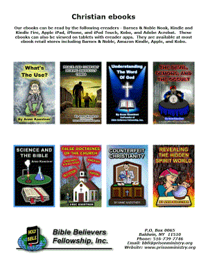 Poster of Christian ebooks